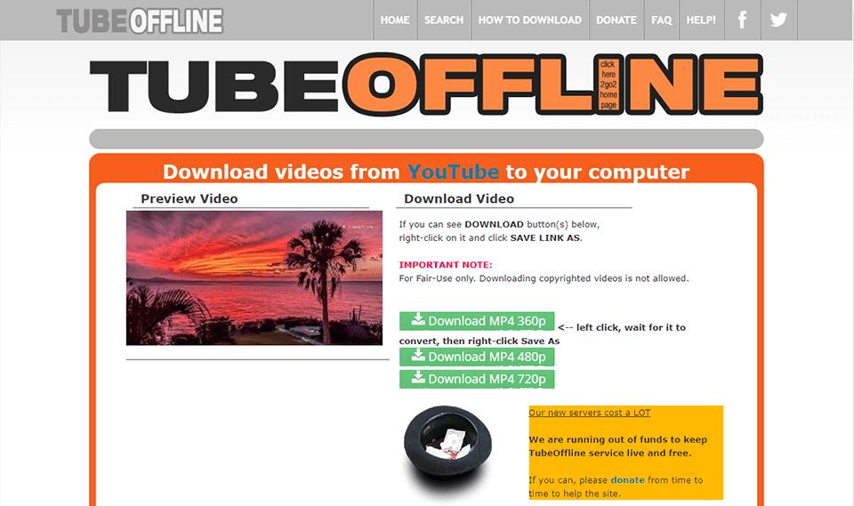 Tube Offline